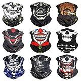 Eytan Multifunctional Headwear Clown Face Mask Neck Gaiter Skull Face Shield Scarf Wrap Sweatband Skeleton Headband -...