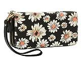 Best Pattern Wallets - Women Floral Wallet Zipper Canvas Purse Long Clutch Review