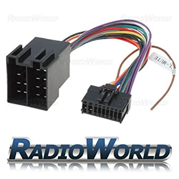 pioneer 18 pin iso wiring harness connector adaptor amazon co uk rh amazon co uk