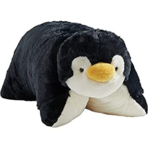 Pillow Pets Playful Penguin Stuffed Plush Toy for Sleep, Play, Travel, and Comfort - Great for Boys and Girls of All Ages - Soft and Washable