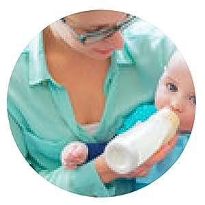 alfombrilla de ratón lindo bebé brinking de una botella - ronda - 20cm