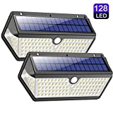 Solar Lights Outdoor, Wireless 128 LED M...