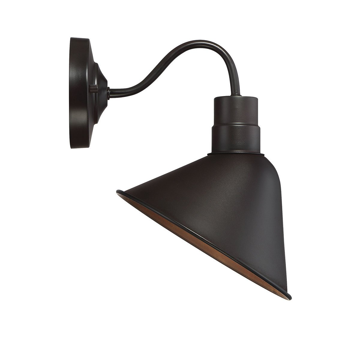 Trade Winds Lighting TW50006ORB Industrial Retro Vintage Gooseneck Barn 1-Light Transitional Wall Sconce, 100 Watts, in Oil Rubbed Bronze