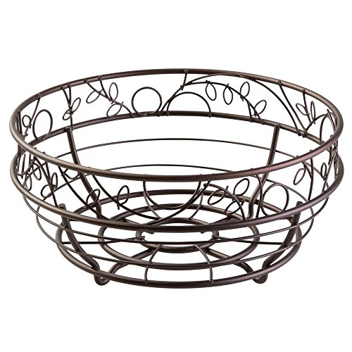InterDesign Twigz Fruit Bowl – Wire Fruit Basket for Kitchen Tables, Bronze (Beautiful Fruit Basket)