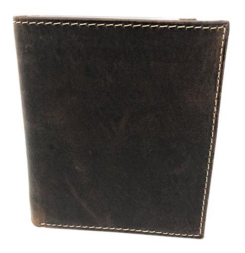 E Elton RFID Blocking Hunter Leather Big Hipster Bifold Wallets for Men ()