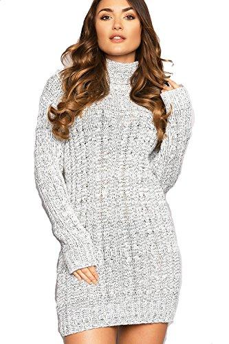 Robe Robe Pull Gris Femme Manches Longues Generic 5v06Cxwwq