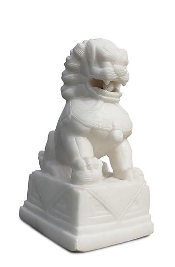 Asien Lifestyle asien lifestyle männlicher tempellöwe marmor stein weiß für den