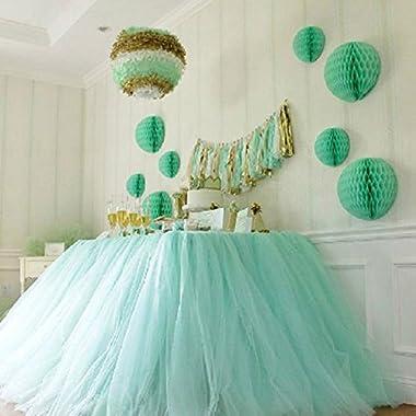 OLizee™ Romantic Wedding Party Birthday Supply Dessert Station Gauze Decoration(Style 1)