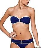 Toyobuy Womens Black Strapless Summer Swimsuit Bikini Set Monokini Beachwear M