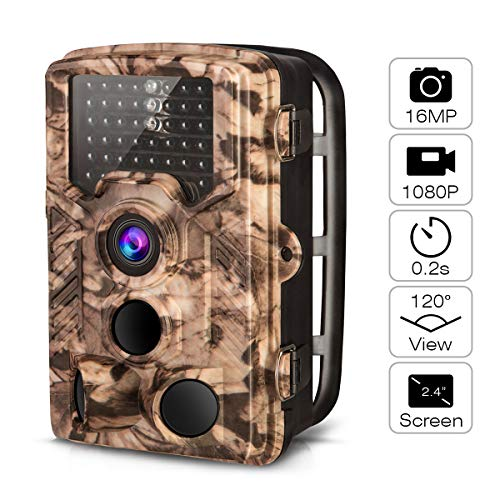 AIMTOM Trail Hunting Camera 16MP Image 1080P Video 46Pcs Infrared LEDs 0.2S Trigger Time Waterproof...