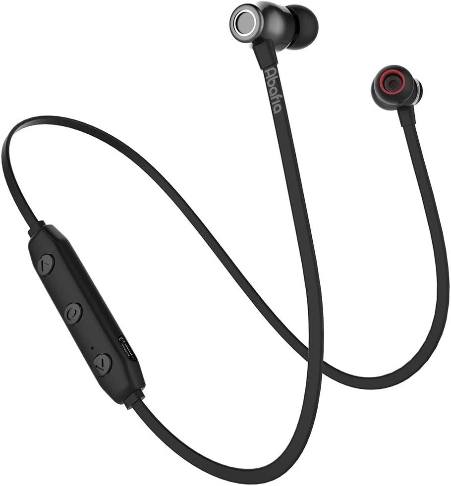 Abafia Auriculares Bluetooth, Auricular Deportivo Inalámbricos Auriculares Bluetooth V5.0 con Magnética Diseño In-Ear para iPhone XR/XS/Huawei P30 / P30 Pro/Samsung S9 / S8 / Xiaomi (Negro)