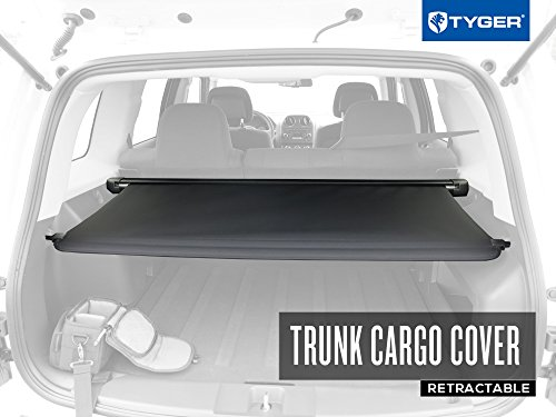 Tyger OE-Style Black Retractable Trunk Cargo Cover Fits 14-16 Jeep ()