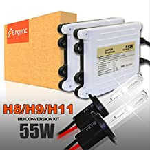 Engync® 55W AC H11 (H16) Xenon HID Conversion Kit with Premium Ballasts and 3 Year Warranty | Hi/Low OEM White Color (5000K)
