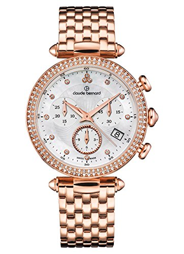 Claude Bernard Ladies-Wristwatch Dress Code Chronograph Date Quartz 10230 37RM NAR