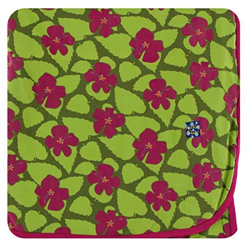 KicKee Pants Print Throw Blanket - Pesto Hibiscus, One Size