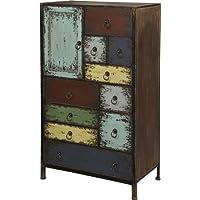 Powell Furniture Parcel 1-Door 10-Drawer Accent Chest, Cinnamon