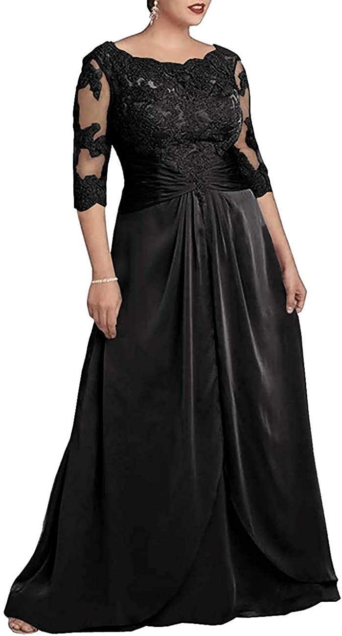 WZW Mother The Bride Dress Formal Evening Party Dresses Lace Sleeves