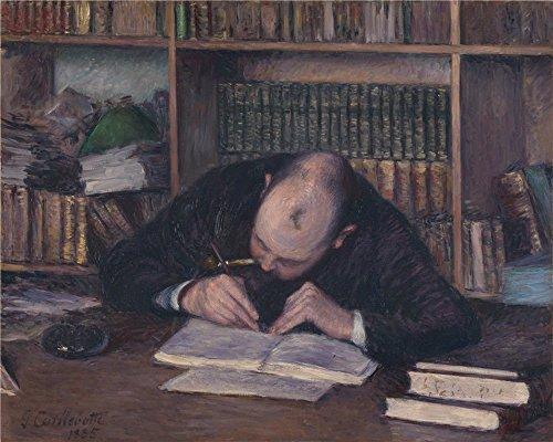 'Portrait Of The Bookseller E.J Fontaine Gustave Caillebotte