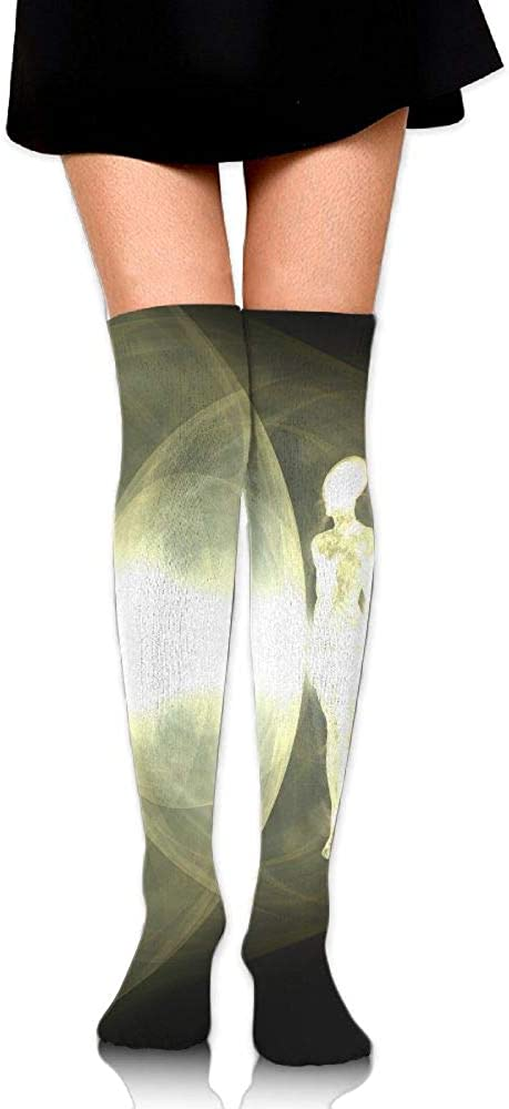 High Elasticity Girl Cotton Knee High Socks Uniform Human Light Image Women Tube Socks
