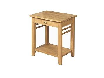 Oak finish end table solid wood hard wood lamp table 1 drawer oak finish end table solid wood hard wood lamp table 1 drawer side table aloadofball Images