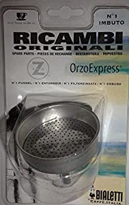 Bialetti - Spare funnel - Replacement Part for Orzo Express Coffee Makers -Stainless Steel - 6cm Diameter from Bialetti