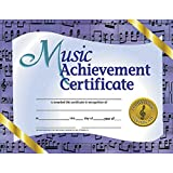 Music Achievement Certificate (Set of 30), Multi, 8.5-x-11-inch