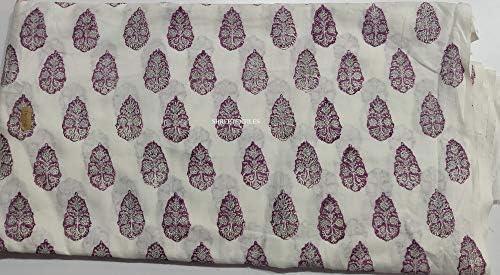 Indianhandicraft Tela Tela de algodón Impresa a Mano con Estampado ...