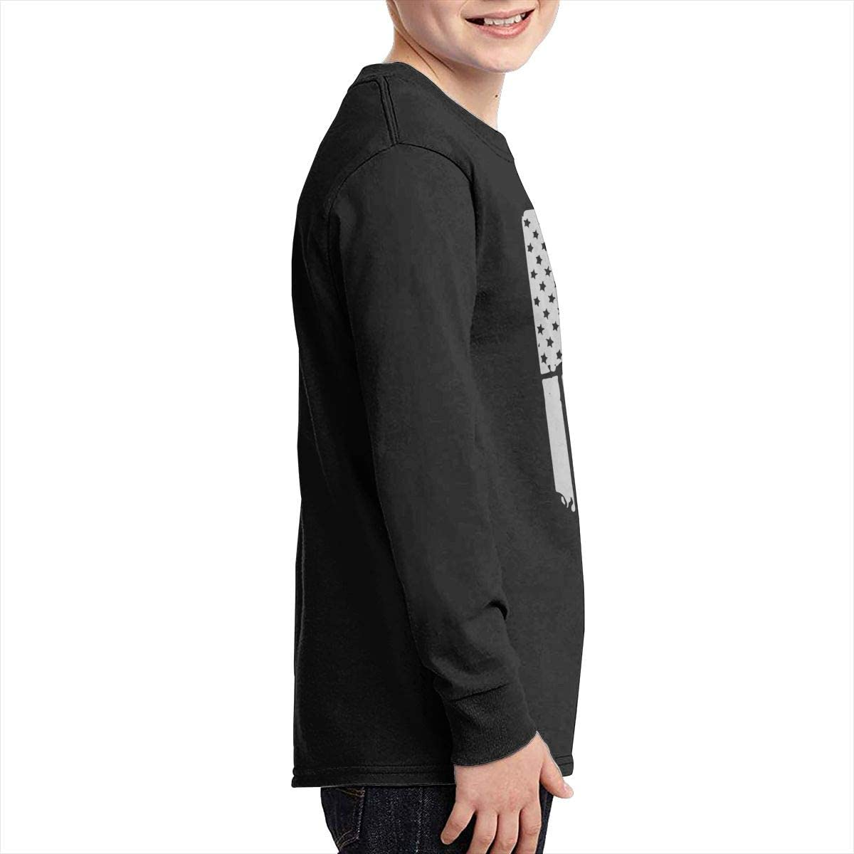 Teenagers Teen Girl Italian American Flag Printed Long Sleeve 100/% Cotton T-Shirts