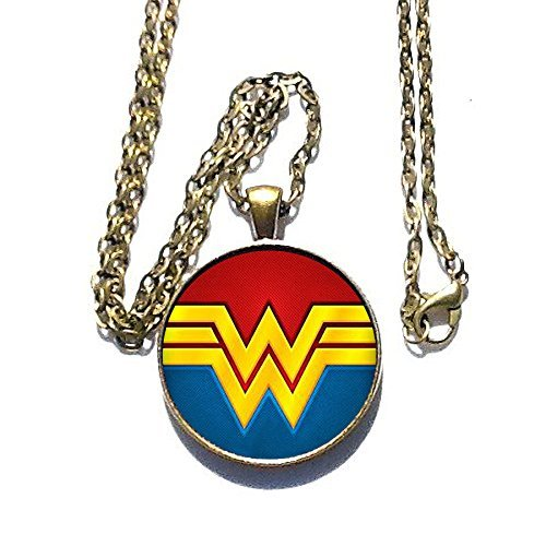 [Wonder Woman Comic logo inspired WW Necklace - HM] (Comic Con Costumes For Females)