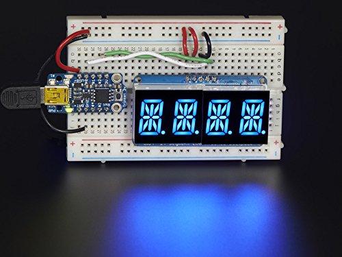 Adafruit Quad Alphanumeric Display - Blue 0.54'' Digits w/ I2C Backpack