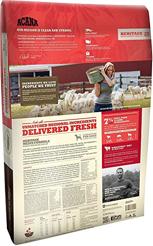ACANA Heritage Meats Dog Food, 4.5 Pound Bag (2 Pack)