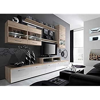 Paris Contemporary Design Wall Unit / Modern Entertainment Center / Unique  Modern Design / With LED