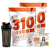 Vanilla Meal Replacement   310 Shake Protein Powder is Gluten and Dairy free, Soy Protein and Sugar Free   Includes 310 Thin, Shaker and Free Recipe eBook   2 Pack, Each Bag Contains 28 Servings