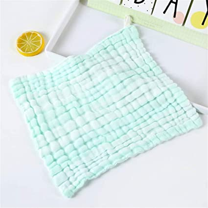 Ari_Mao 1PC Kids Sport Absorbent Bath Linen Color Bar Bubble Square Toalla de Mano de algodón