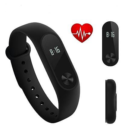 Original Xiaomi Mi Banda 2 inteligente pulsera Miband 2 Fitness Rastreador Android pulsera SmartBand Monitor de