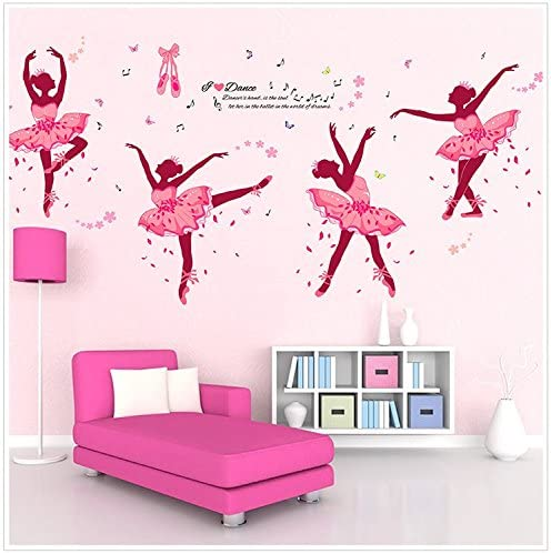 Amazon Com Ferris Store Cute Cartoon You Love Dance Ballet Girls Baby Room School Bedroom Pvc Decor Wall Stickers Wallpaper 74x38 Home Kitchen