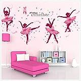Ferris Store Cute Cartoon You Love Dance Ballet Girls Baby Room School Bedroom PVC Decor Wall Stickers Wallpaper 74x38''