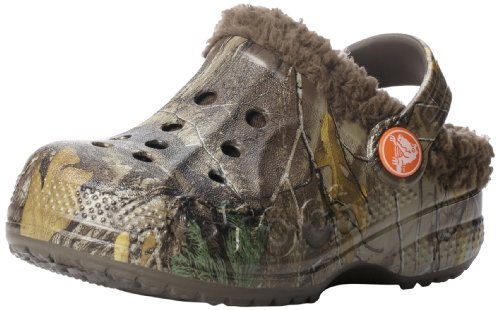Crocs 15799 Baya Lined Realtree Clog ,Chocolate/Chocolate,2