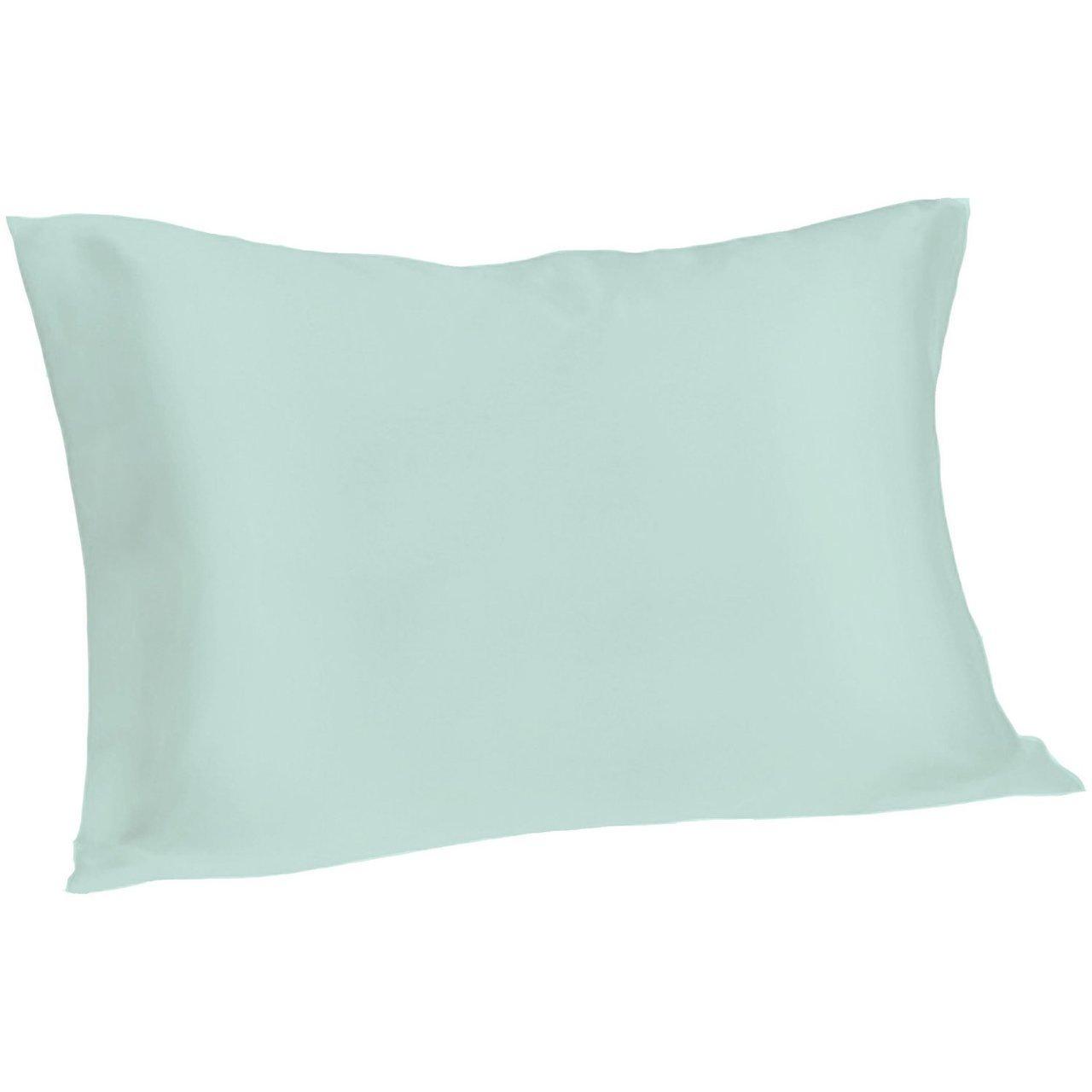 Spasilk 100% Pure Silk Pillowcase for Facial Beauty and Hair Health, King Size, Aqua