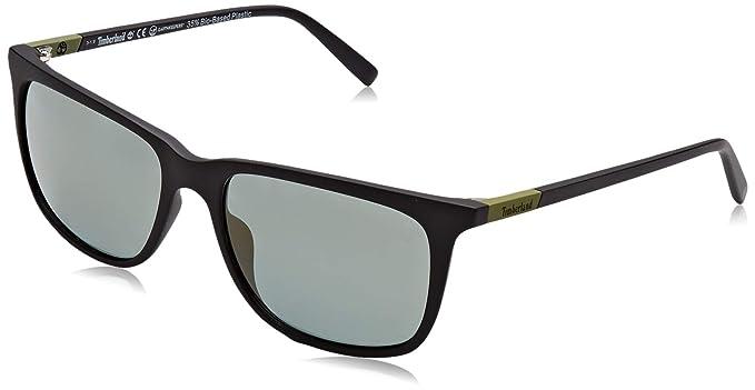Timberland TB9164 Gafas de Sol, Negro (Matte Black/Green ...