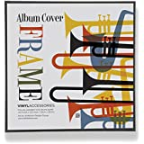 "Top Rated Album Frame - Made to Display Album Covers and LP Covers 12.5"" x 12.5"" - Hanging Hardware Installed..."