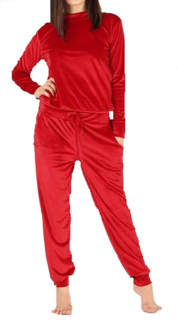 Comfiestyle New Women's Ladies Velour Velvet Loungewear 2 Piece Tracksuit Plus Size UK 8-26