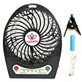 HADATA 4.5 Inch Rechargeable Portable mini clip desk Fan for Outdoor Camping Travel Office Laptop Kid Child Study Work Table Car Seat