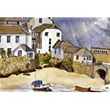 Corner of St Ives, Cornwall art print from a watercolour by Alex Pointer