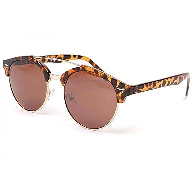 11b32ecd2b1f89 Lunettes de soleil retro écailles Moky - Mixte  Amazon.fr  Vêtements ...