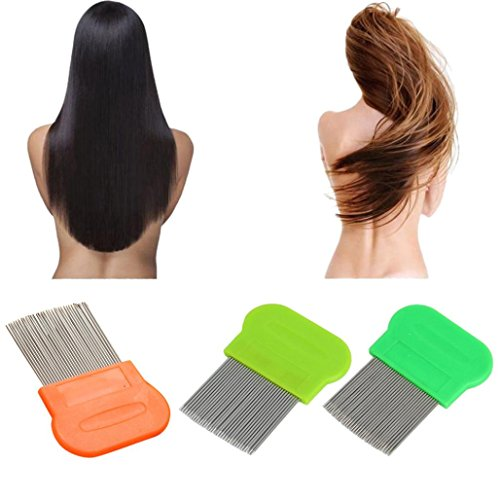 (Mandystore Hair Lice Comb Brushes Terminator Fine Egg Dust Nit Removal Stainless)