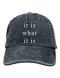 It Is What It Is Snapback Casual Baseball Hat Jeans Cap For Men And Women Ajustable