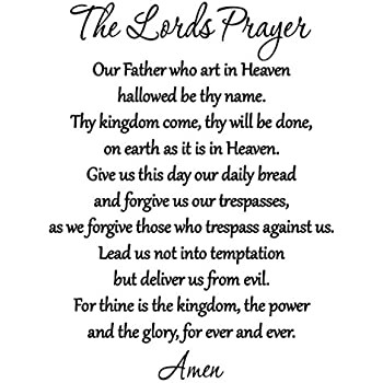 Amazon Com The Lord S Prayer Bible Wall Decal Our Father