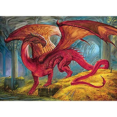 Cobble Hill Puzzles Red Dragon's Treasure 1000 Piece Fantasy & Gothic Jigsaw Puzzle: Toys & Games