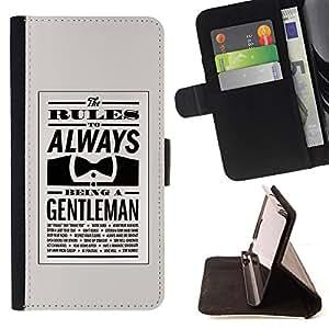 - Queen Pattern FOR Samsung Galaxy S4 IV I9500 /La identificaci????n del cr????dito ranuras para tarjetas tir????n de la caja Cartera de cuero cubie - always be gentleman bowtie r